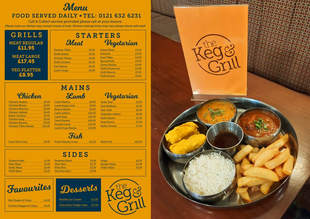 The Keg And Grill Menu